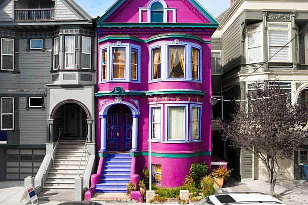 Purple house in San Francisco – Foto