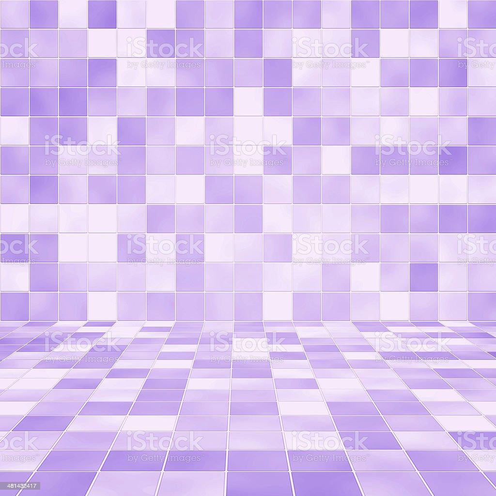 Purple Interior tiled wall stock photo