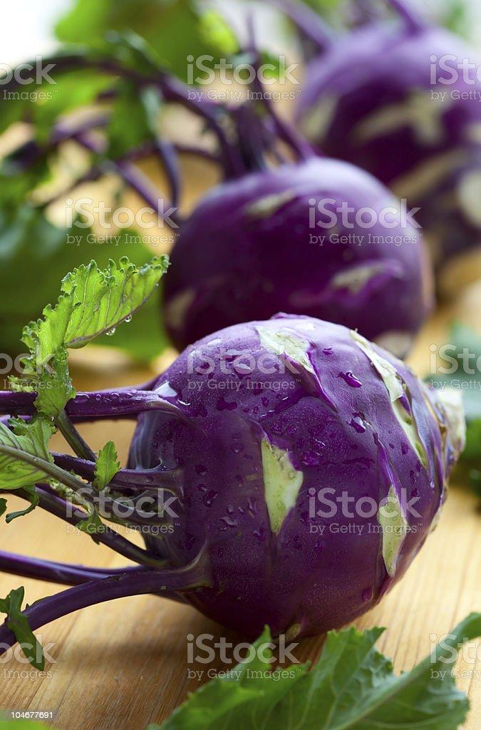 purple kohlrabies royalty-free stock photo