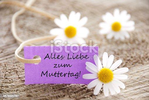 istock Purple Label with Alles Liebe Zum Muttertag 487693797