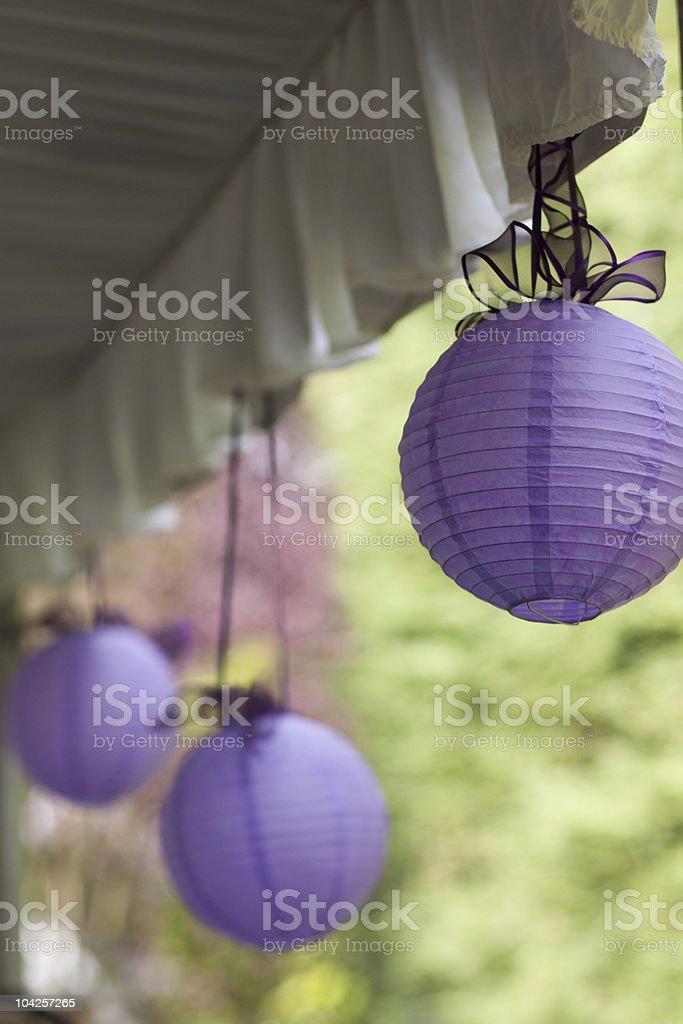 Purple lanterns royalty-free stock photo