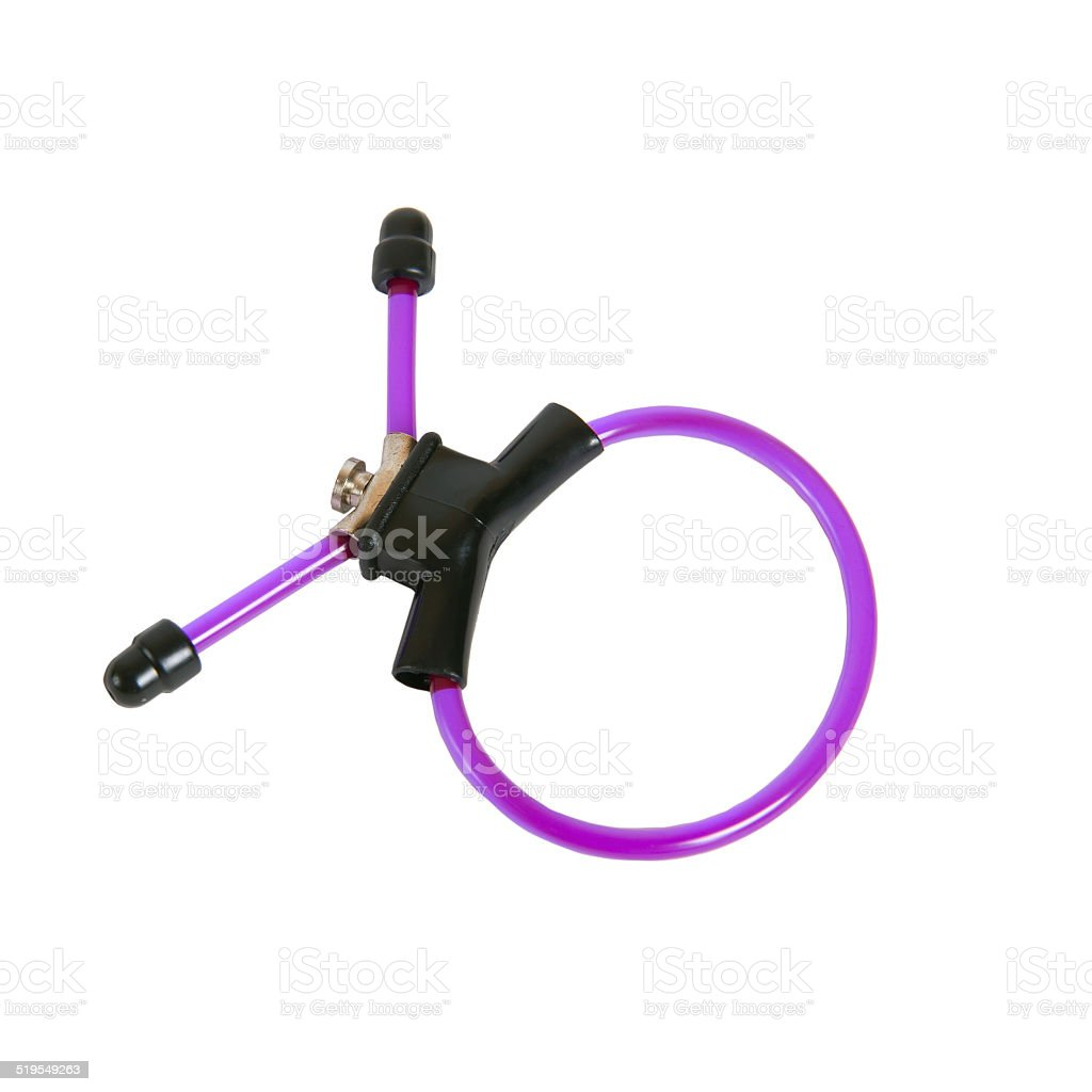 Purple lasso ring for erection extension stock photo