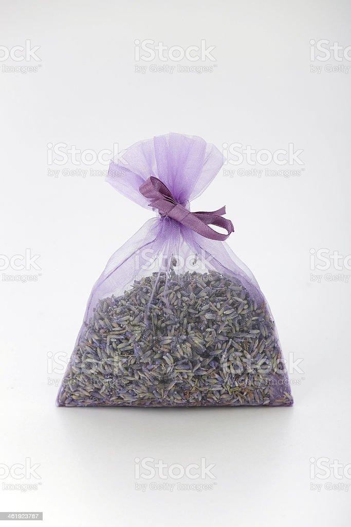 Purple lavender bag stock photo