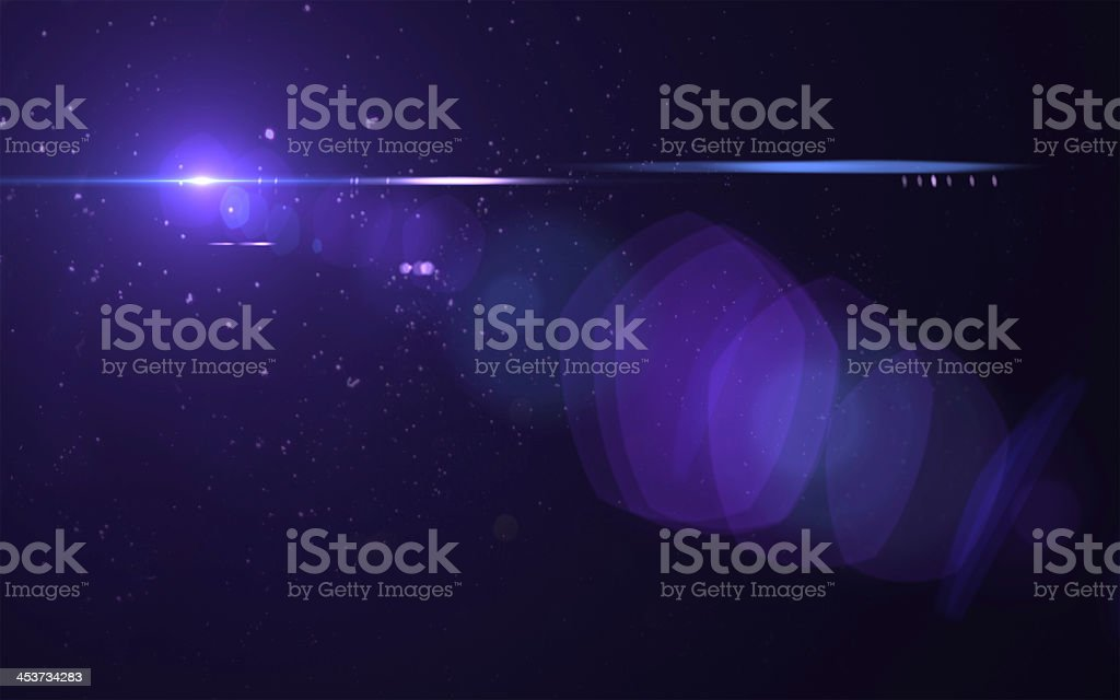 A purple lens flare effected image stock photo