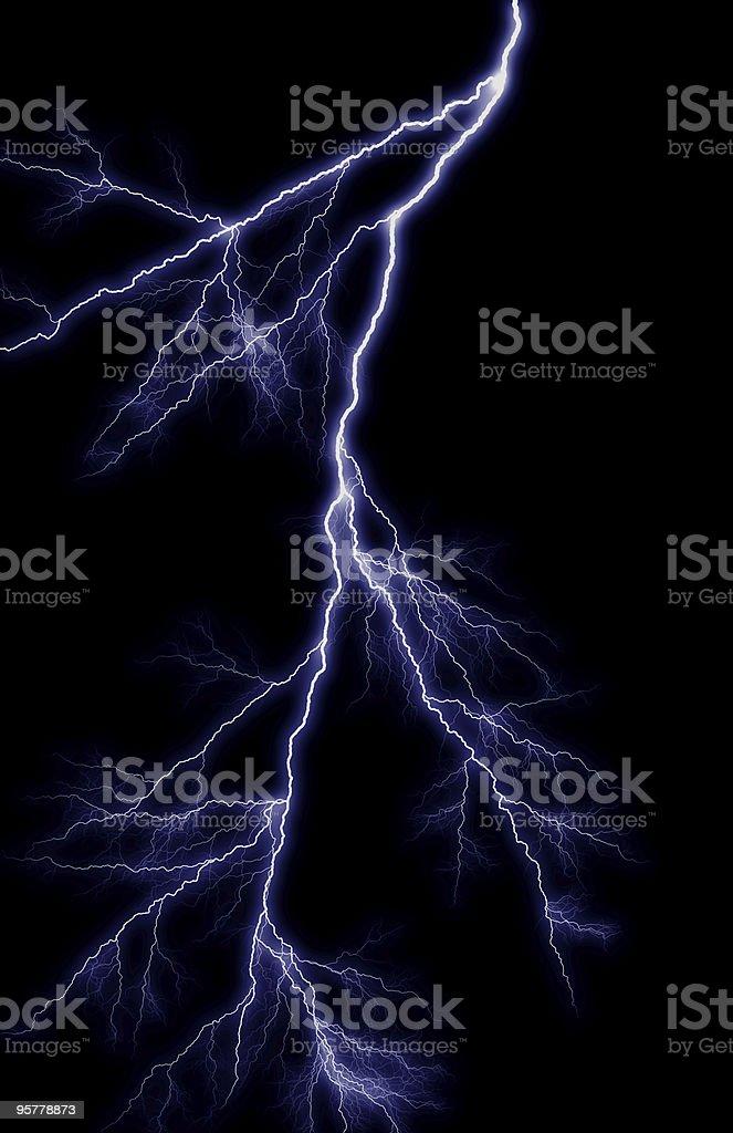 Purple Lightning Bolt royalty-free stock photo