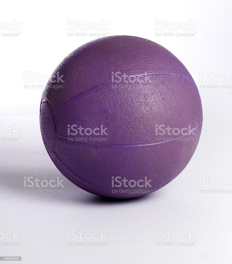Purple medicine ball stock photo
