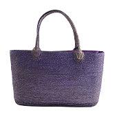 Purple metallic basket tote