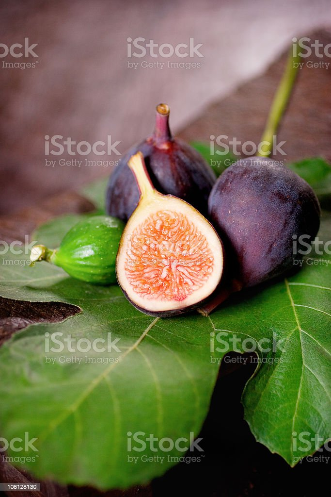 Purple Mission Figs stock photo
