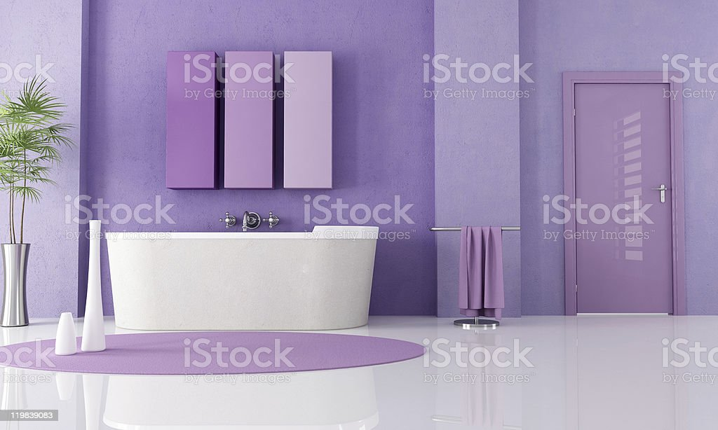 Viola moderno bagno - foto stock