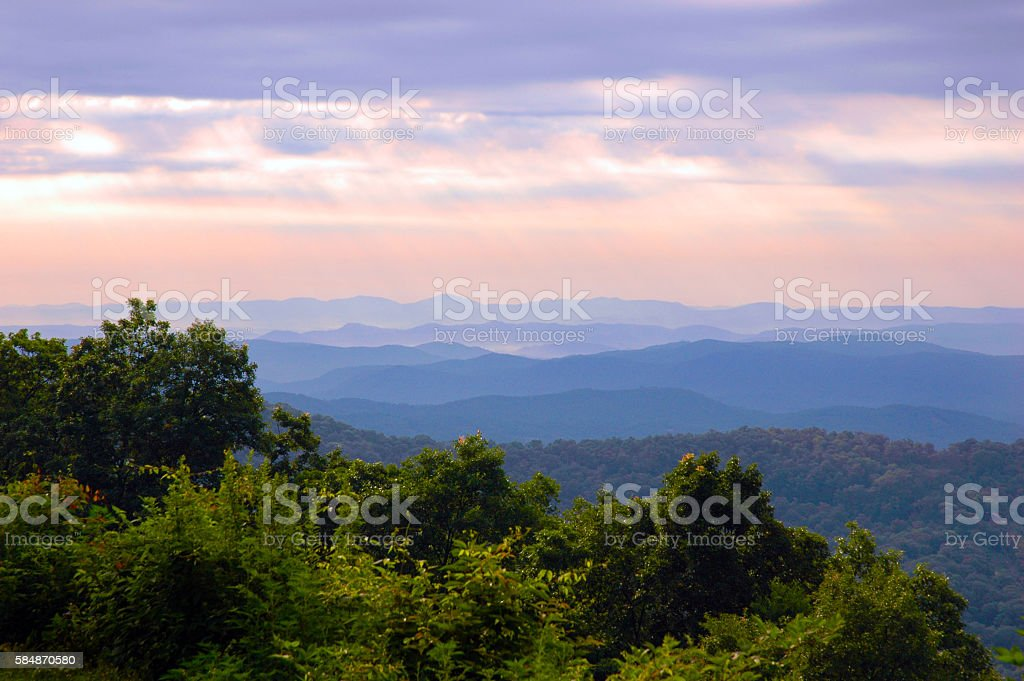 Purple Mountains Magical Majesty stock photo