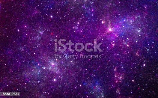 istock Purple nebula 585312674