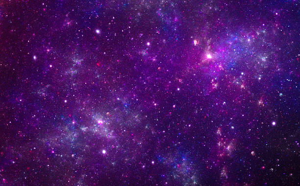 Purple nebula stock photo