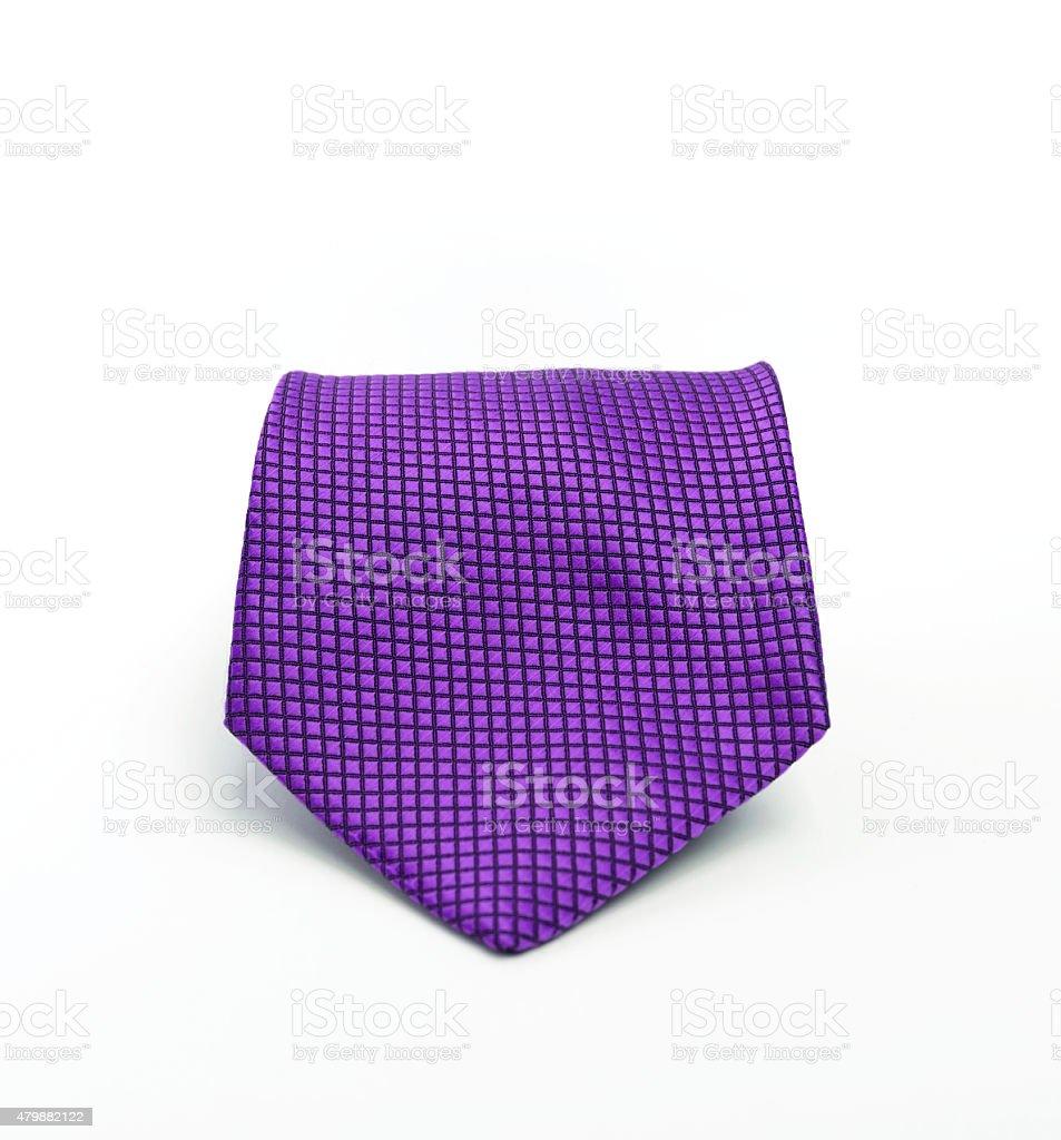 Purple necktie selective focus stock photo