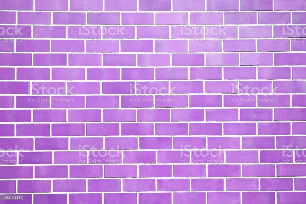 Purple new brick wall perfectly background. Best clean brick wall. Sweet and cute pastel color. Close up. Front view. royalty-free stock photo