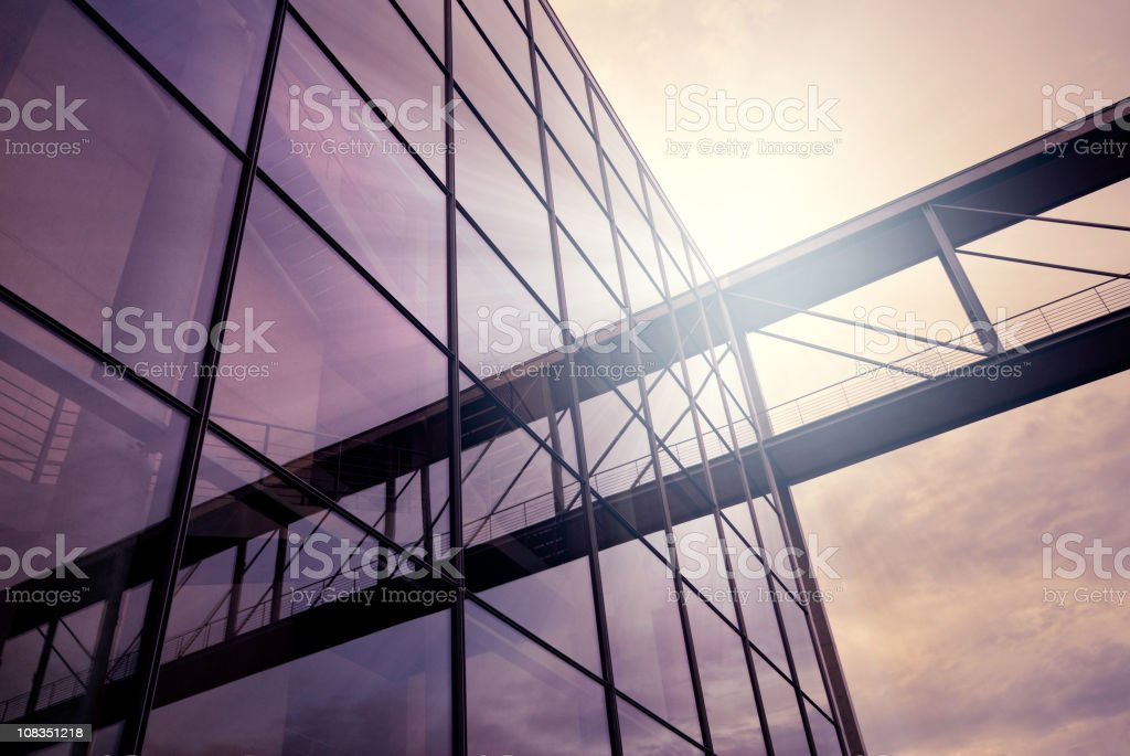 Purple Office building stock photo