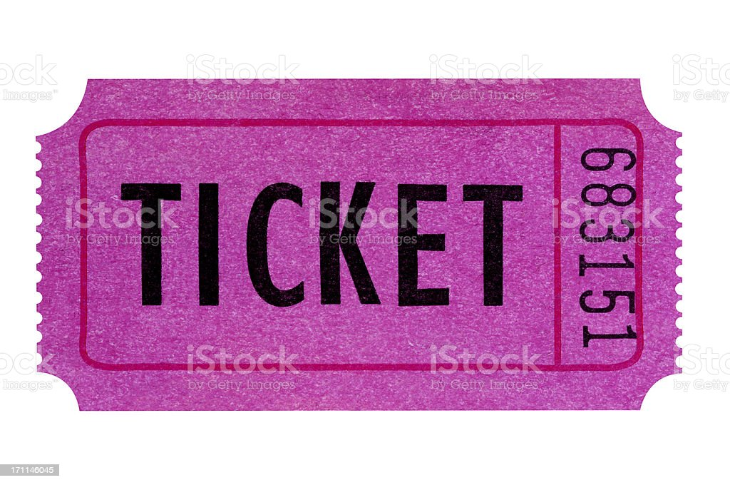 Purple or pink ticket stock photo