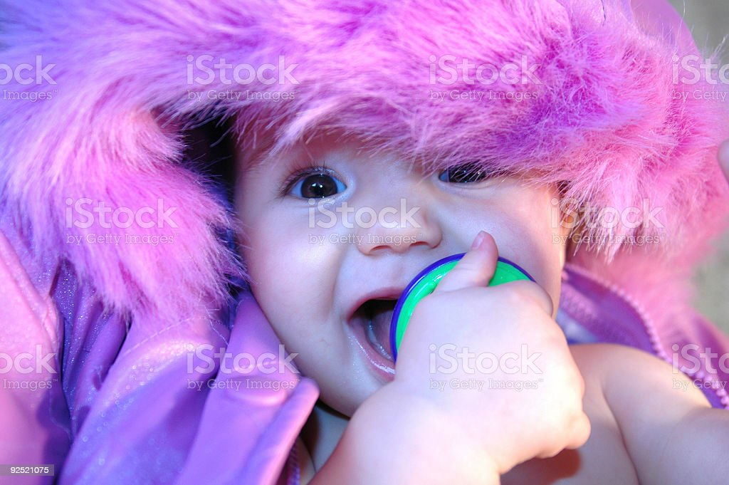 Purple Pacifier Eater royalty-free stock photo