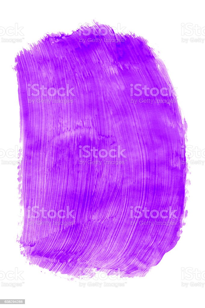 Purple paint (isolated on white) stock photo