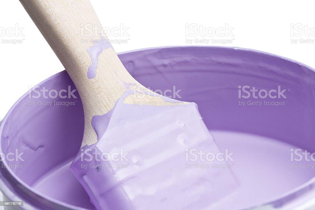 Purple paint stock photo