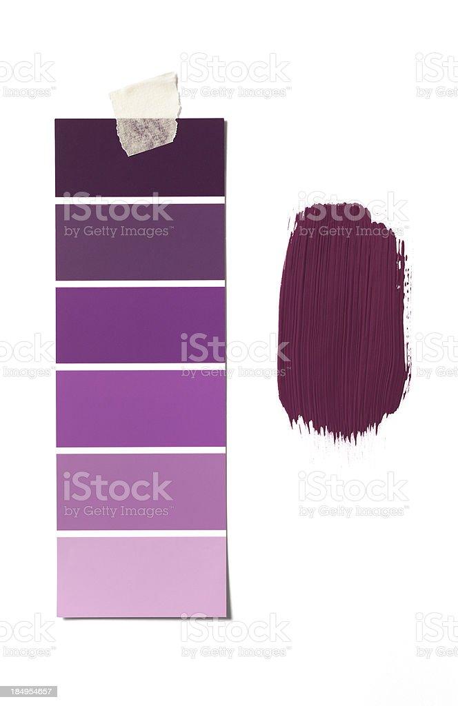 purple paint swatch stock photo