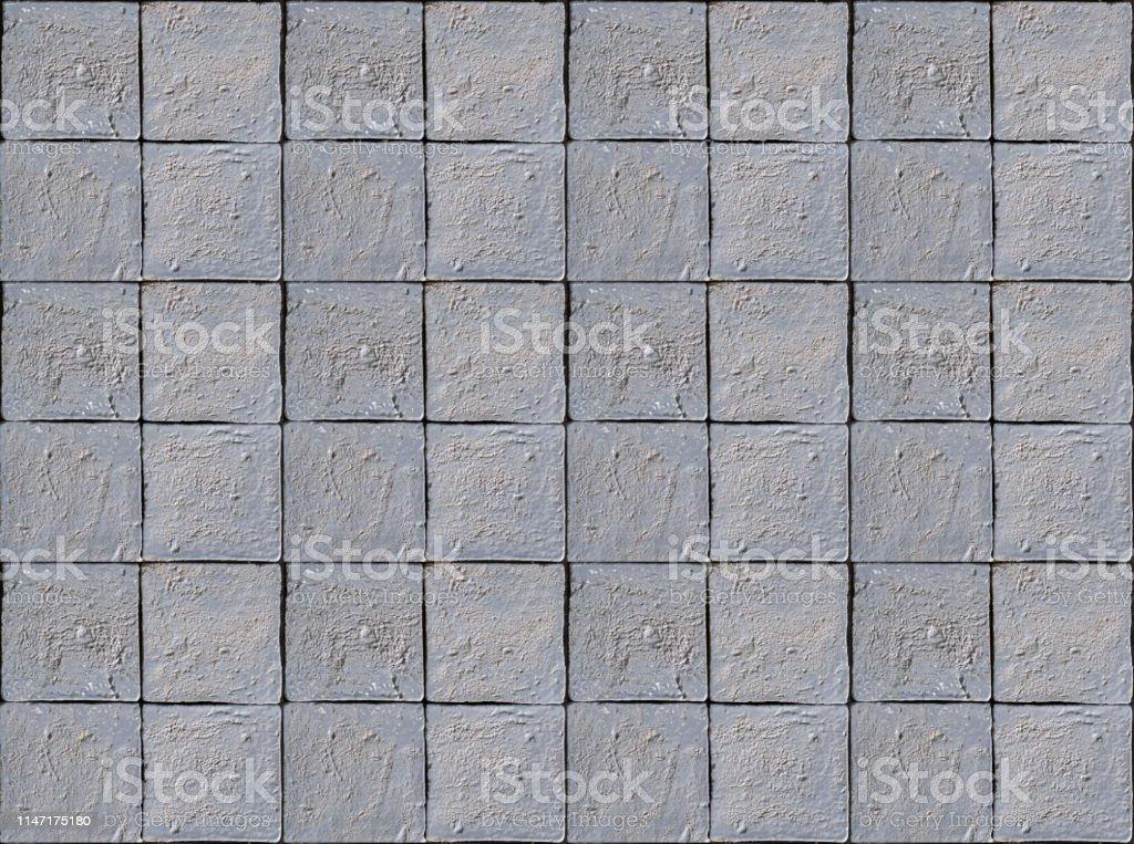 Purple painted square stone tile texture background. Purple wall tile.