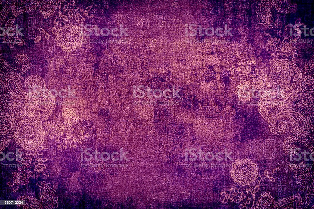 Purple Paisley Abstract Background stock photo