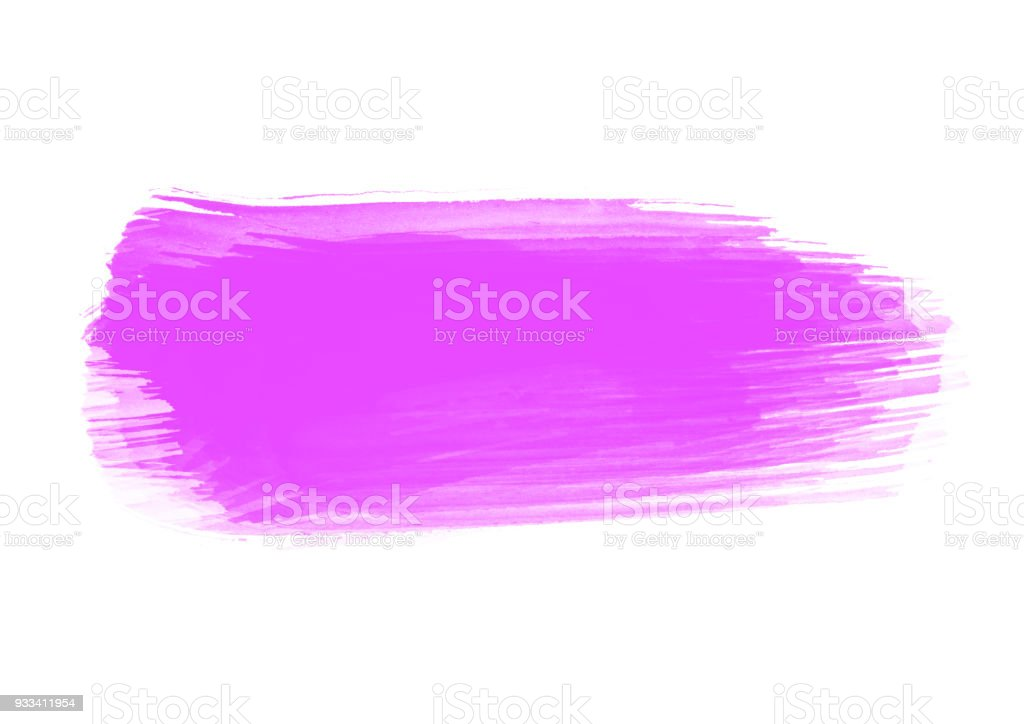 Purple patches water color graphic color brush strokes patches effect stock photo