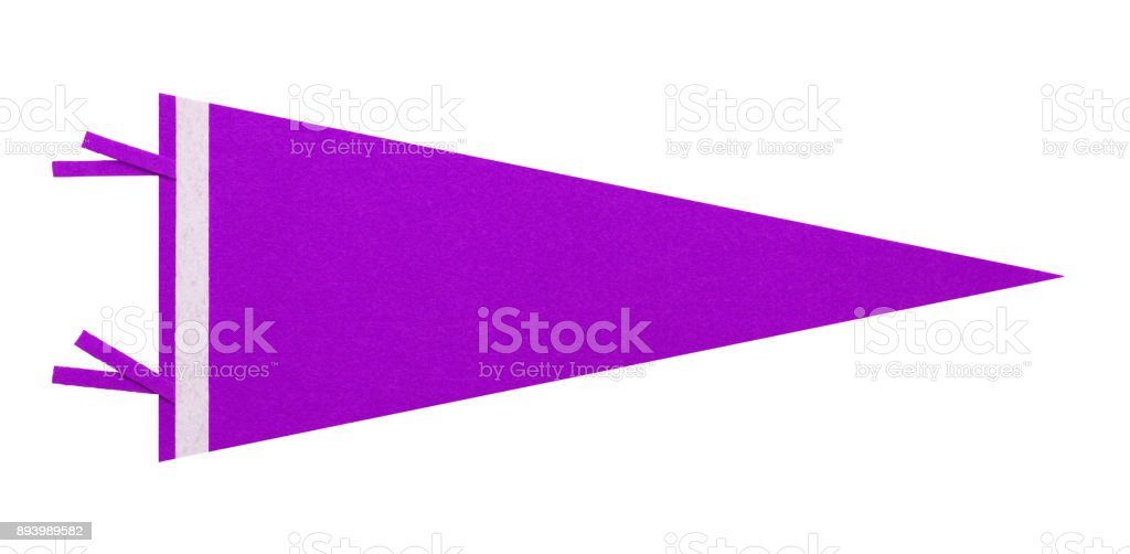 Banderín morado - foto de stock