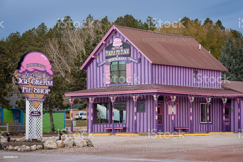 Purple Pie Place stock photo