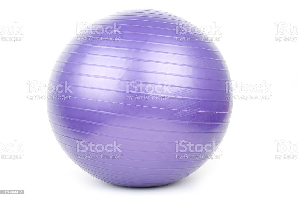 Purple Pilates ball set on a white background stock photo
