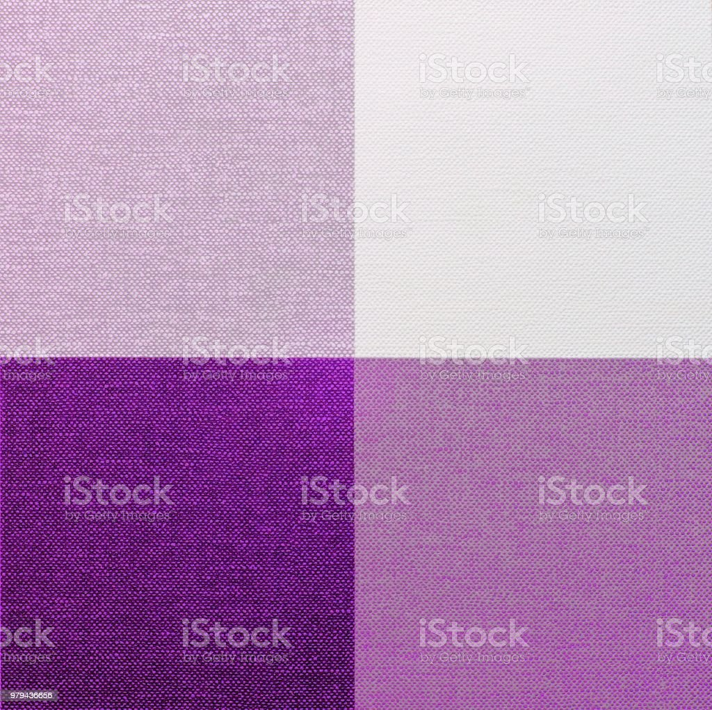 Purple, Pink And White Gingham Tablecloth Royalty Free Stock Photo
