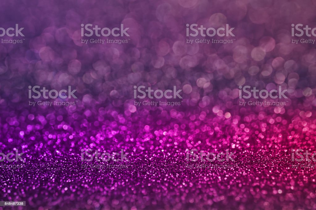 lila rosa Bokeh leichte Glitzer Hintergrund für Weihnachten und Neujahr – Foto