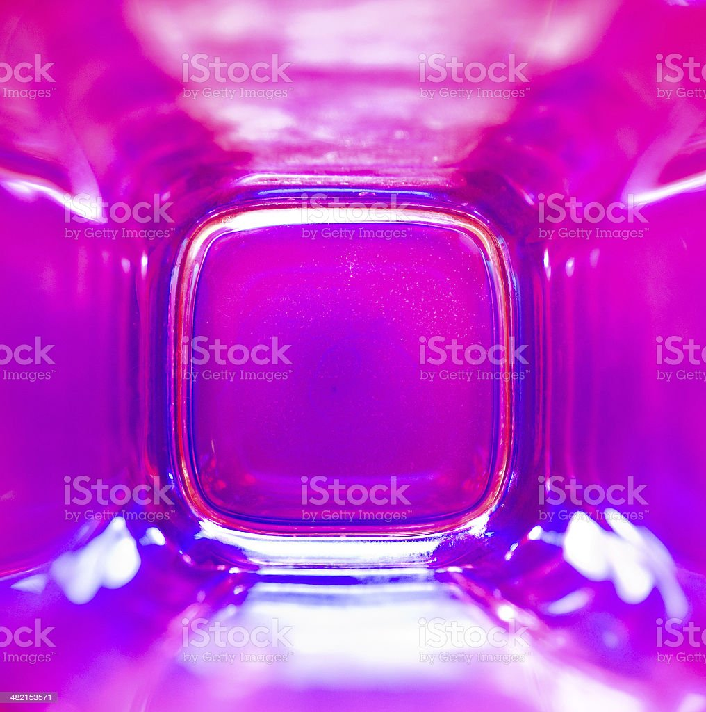 Purple - pink glass stock photo