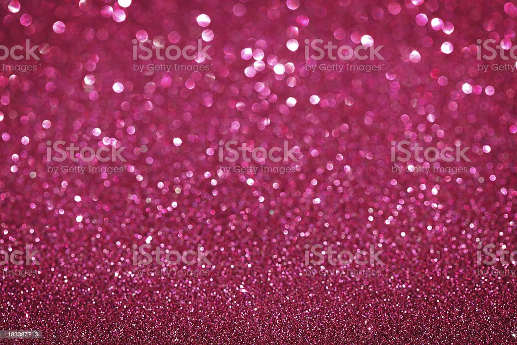 Purple / Pink Glitter Christmas Background stock photo