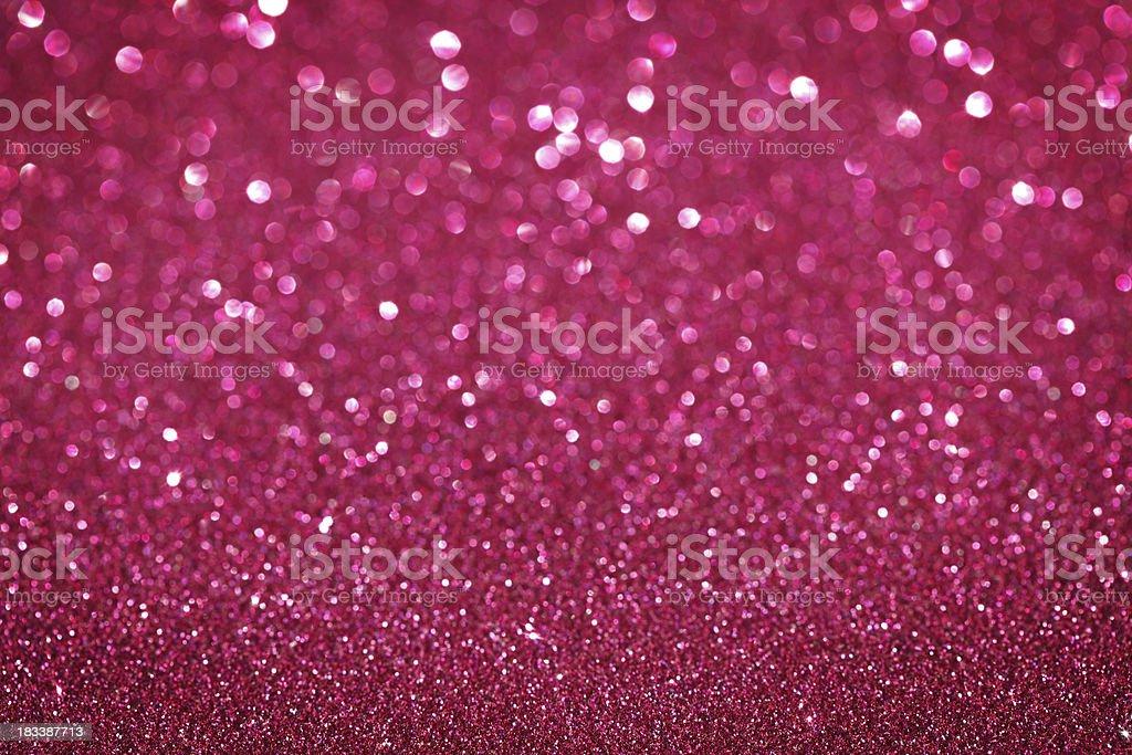 Purple / Pink Glitter Christmas Background stock photo