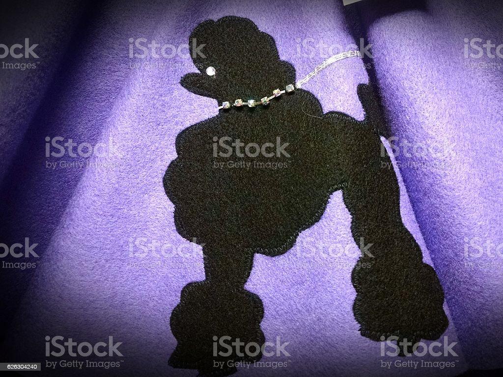 Purple Poodle Skirt stock photo