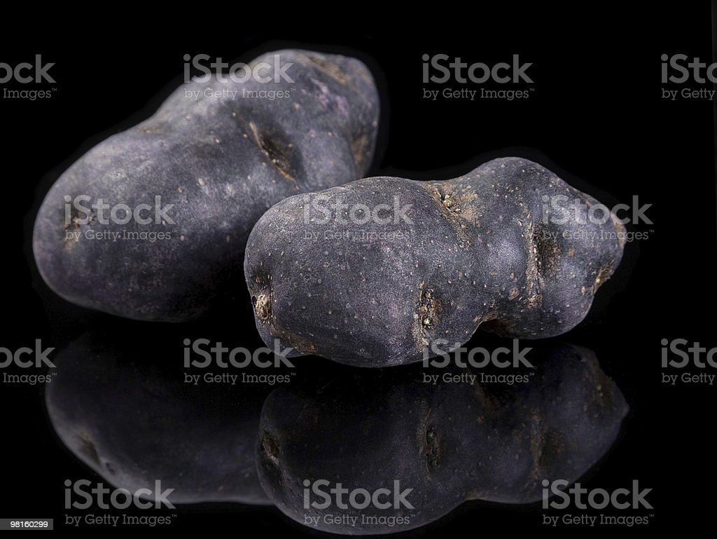 Patate viola foto stock royalty-free