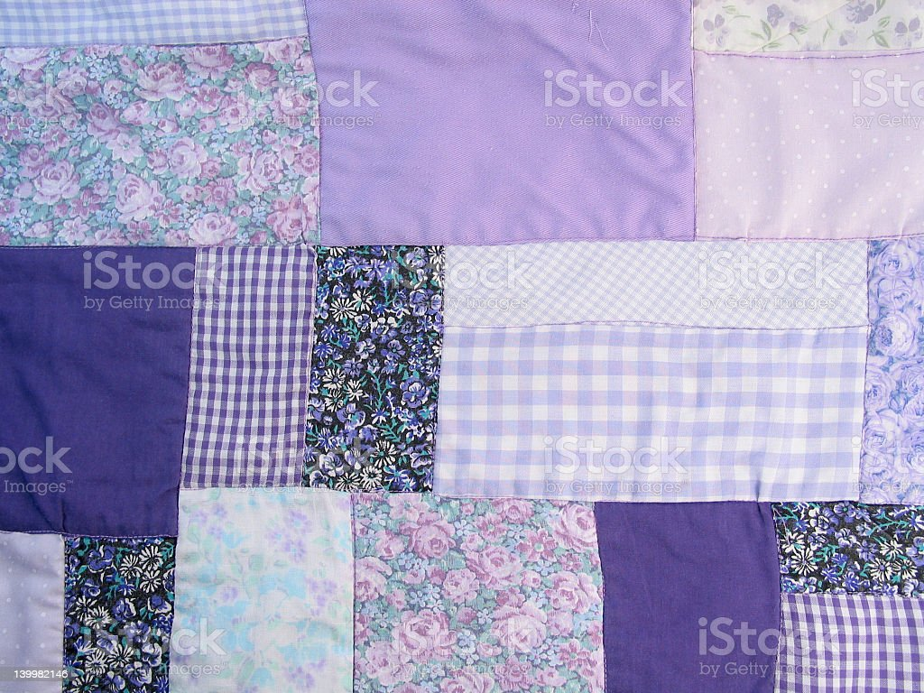 Purple Quilt Detail royalty-free stock photo