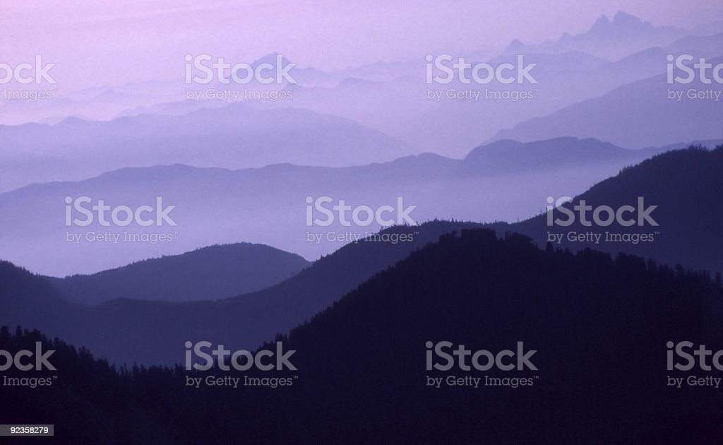 Purple Ranges Horizontal royalty-free stock photo