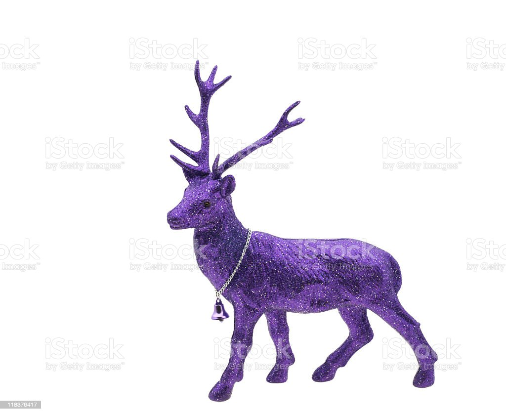 Purple Reindeer Christmas Decoration royalty-free stock photo