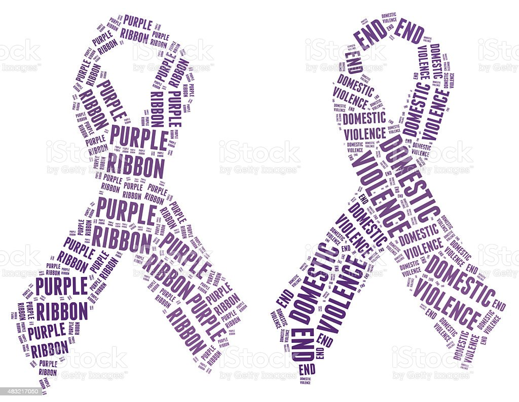 Purple Ribbon campaign - Stop Domestic Violence stock photo