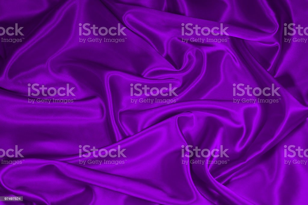 Purple Satin/Silk Fabric 1 royalty-free stock photo