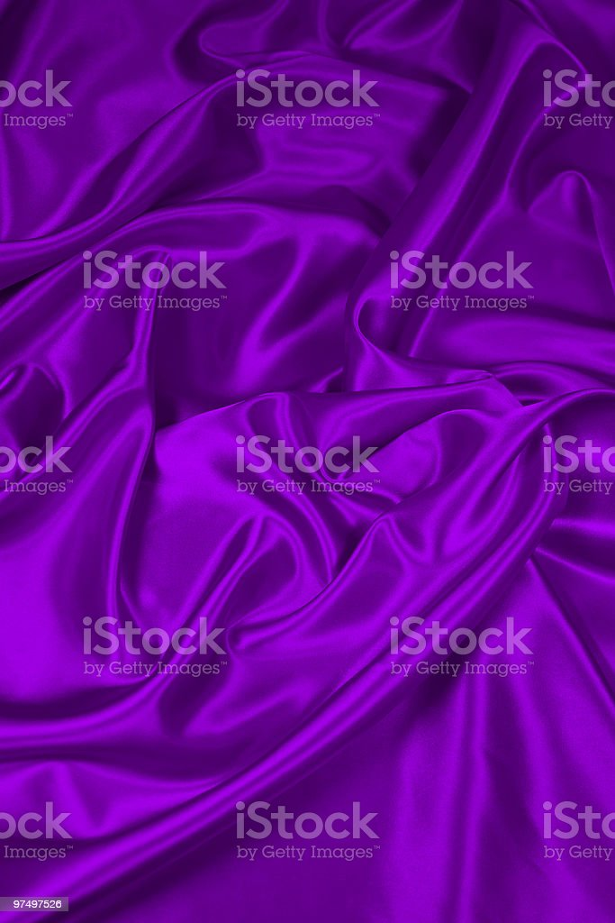 Purple Satin/Silk Fabric 2 royalty-free stock photo