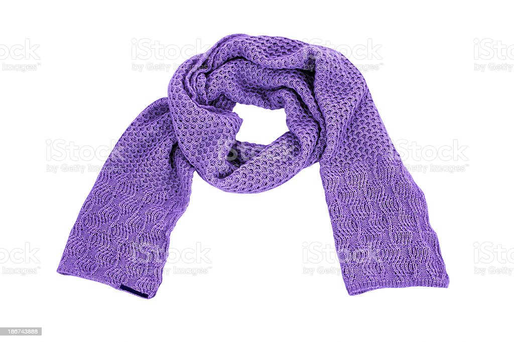 Purple scarf royalty-free stock photo