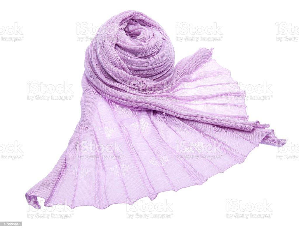 Écharpe violet photo libre de droits