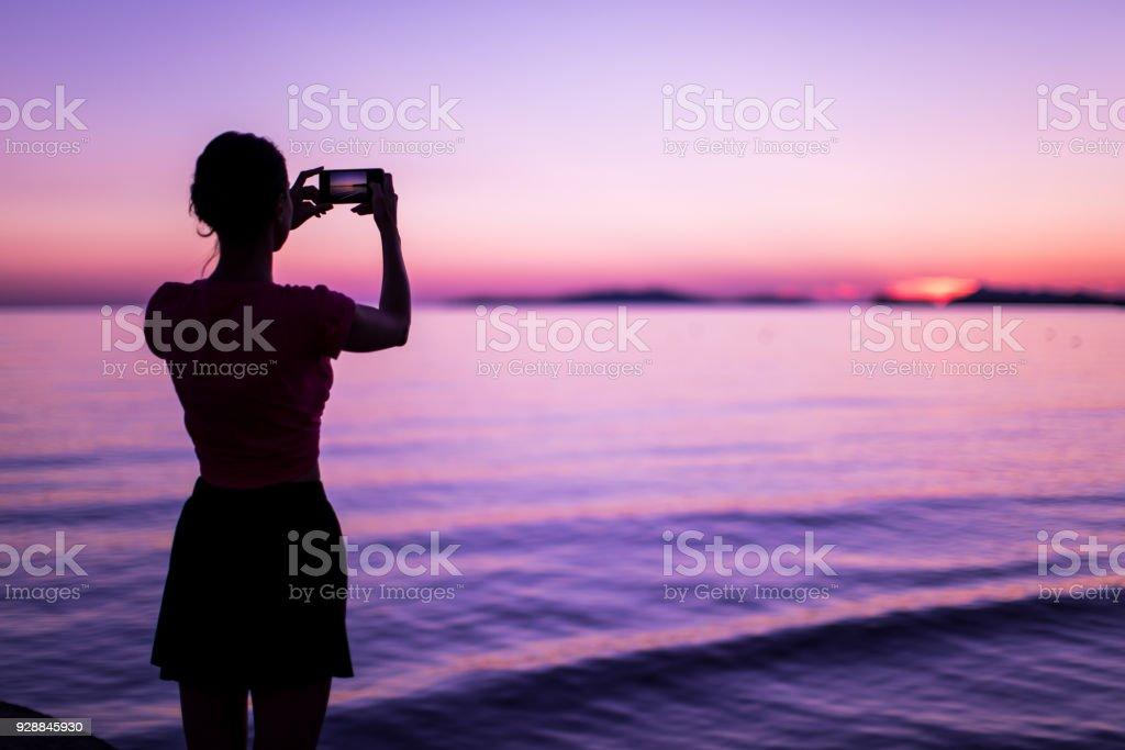 Purple sea stock photo