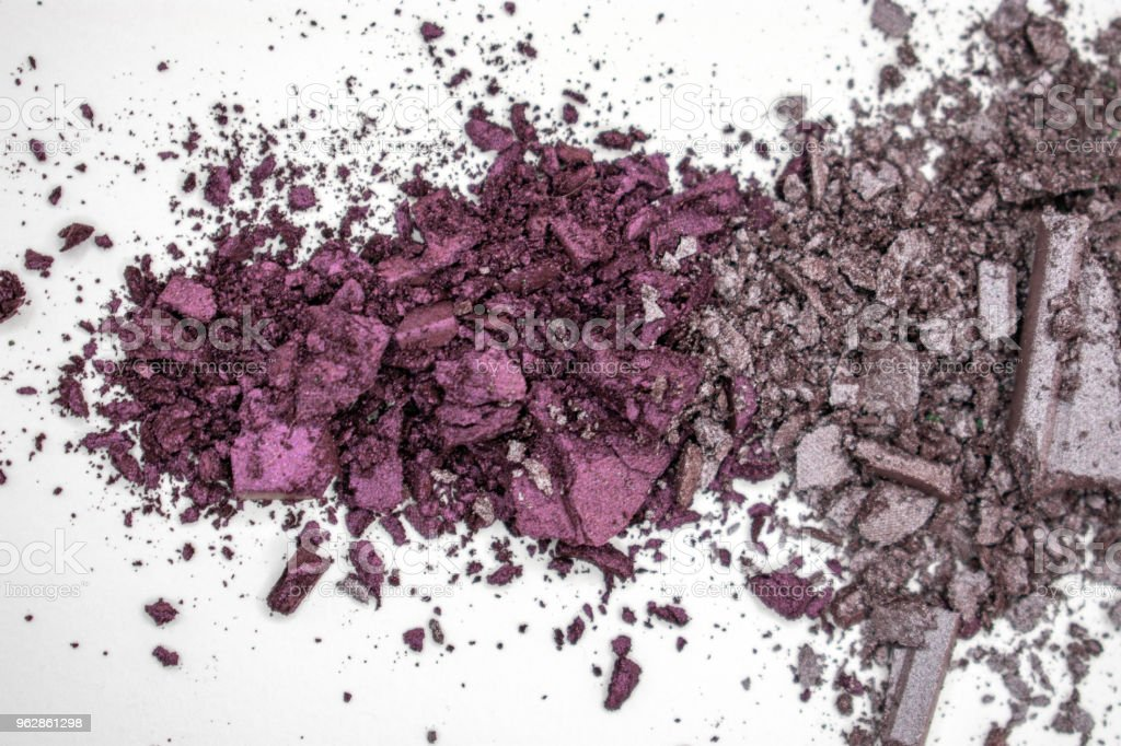 purple shimmer eyeshadow with lavender grey shimmer stock photo