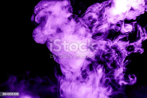 874895030 istock photo purple smoke isolated on a black background. fractal. spiral. 894958398