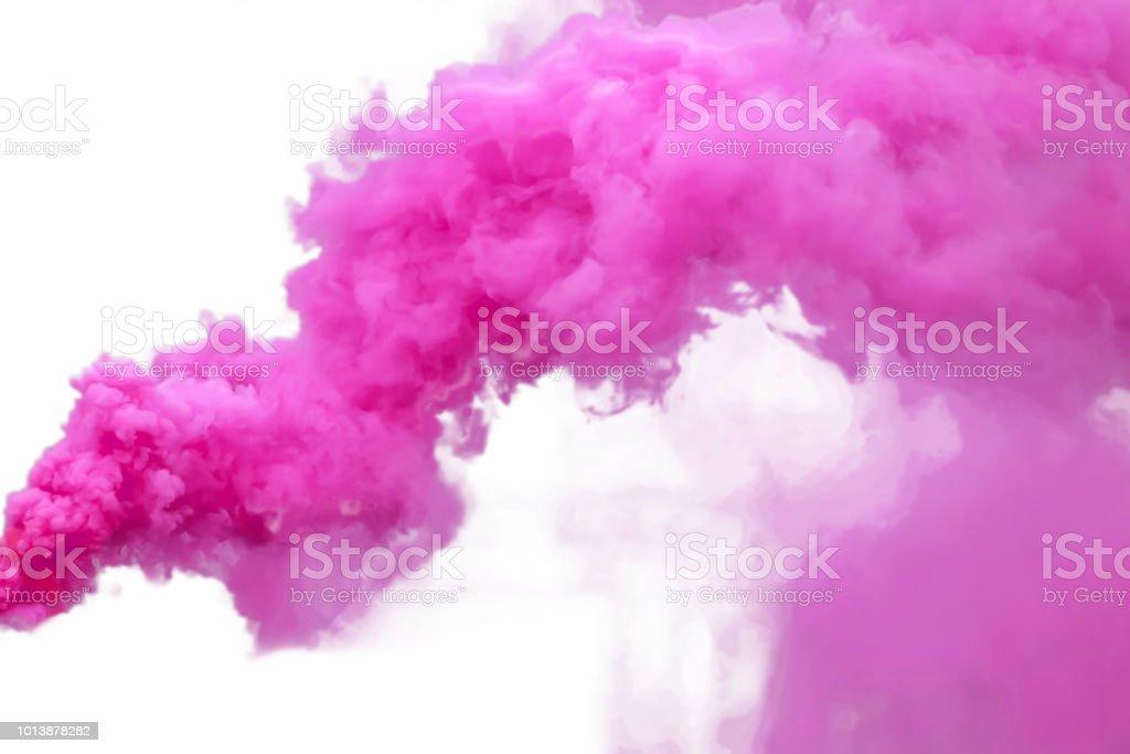 Humo púrpura - foto de stock