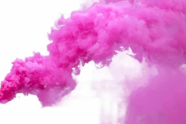 Purple smoke stock photo